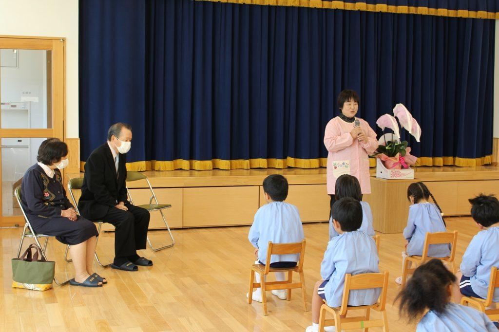 ピアノの寄贈式が行われました