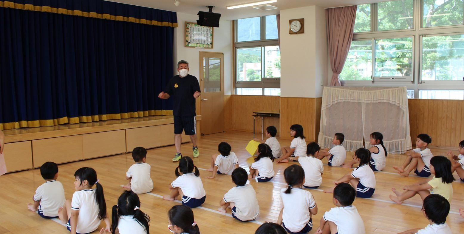 体育あそびの教室がありました
